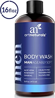 ArtNaturals Men's Natural Body Wash – (16 Fl Oz / 473ml) – Shower Gel that Cleanses, Refreshes and Deodorizes – with Aloe Vera, Shea Butter, Essential Oils and Cocoa Butter