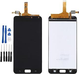 ixuan ASUS zenfone 4 max pro ZC554KL X00ID 修理交換用フロントパネル LCD液晶 画面 タッチパネル ディスプレイ デジタイザ アセンブリ フロント 修理工具セット付属(ブラック)