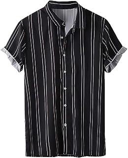 Zrom T Shirt for Men Stylish,Men's Summer Fashion Lapel Multi Pocket Pure Color Short Sleeve Shirt Top Blouse