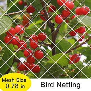 Agfabric Garden Bird Netting 6x35ft White Anti Bird Protection Net Fruit Vegetables Flower Garden Pond Netting