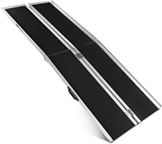 ORFORD Non Skid Multifold Wheelchair Ramp 7FT, Utility Mobility Access Threshold Ramp for Home Steps Stairs Doorways Scooter