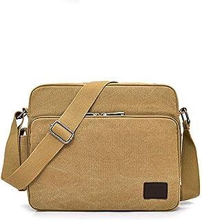 Bolsa de mensajero para hombre, bolsas de lona para el hombro, bolsas de lona para laptop de 13 pulgadas para el trabajo y...