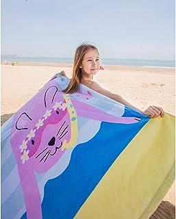 منشفة الشاطئ للأطفال من كوبنكو، مقاس 78.74 سم × 150.8 سم، بطانية منشفة حمام كبيرة للسفر والسباحة والتخييم والنزهات (أرنب ا...