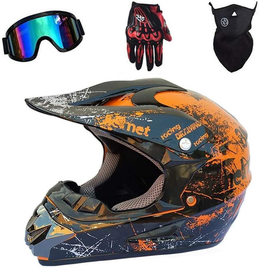 Adult Motocross Helmet 4Pcs Set Scooter MX New mail order ATV 2021 new Motorcycle