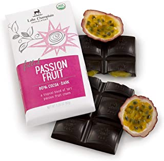 Lake Champlain Passion Fruit Organic Dark Chocolate Bar, 3.25 Ounces