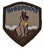 Tactical Gear Junkie Sheepdog 3x2.5 Shield Patch Hook Fastener Backing - Multiple Colors (Desert Tan)