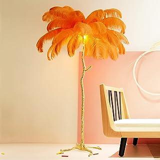 DELONGKE Lampadaire de Luxe Moderne en Plumes d'autruche, Lampe sur Pied en résine Nordique, lampadaire de Chambre à Couch...