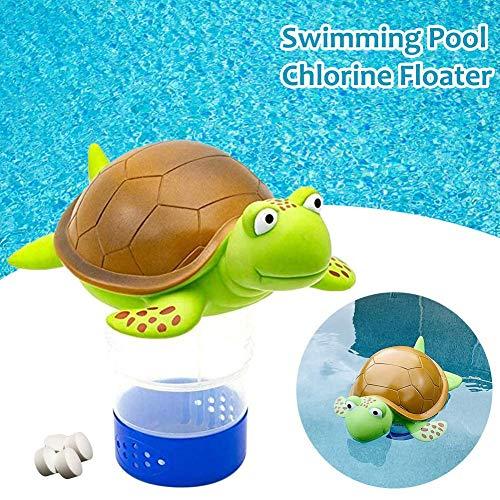 N/Y Schwimmender Pool-Chlorspender, Schildpatt-Tablettenschwimmer mit Verstellbarer Verschlusskappe für Schwimmbad, SPA, Whirlpool