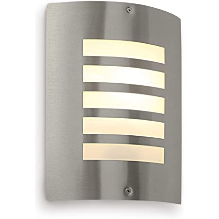 Bianco Outdoor Wall Light - Curved Outside Lights Mains Powered - Outdoor Wall Lights Mains Powered - IP44 Weatherproof Wall Lights - E27 LED Compatible