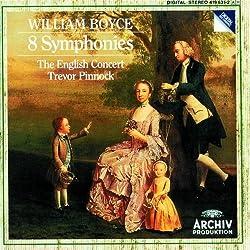 William Boyce: 8 Symphonies - The English Concert / Trevor Pinnock by Miles Golding, Paul Goodwin, Trevor Jones, Julie Lehwalder (1990) Audio CD