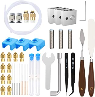 41 قطعه ابزار چاپگر 3D Piece شامل نازل های چاپگر MK8 ، سوزن های تمیز کننده نازل از جنس استنلس استیل ، موچین دقیق و سایر لوازم چاپگر سه بعدی