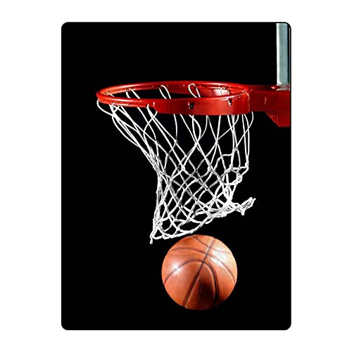 5570092ef70 FAITOVE Basketball Printing Velvet Plush Throw Blanket for Couch Sofa or  Travelling 60
