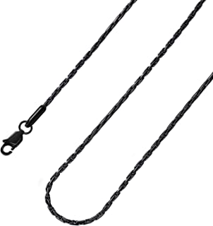 2-3mm Black Rolo Chain Stainless Steel Cable Chain Necklace Mens Womens Jewelry,18-36inch