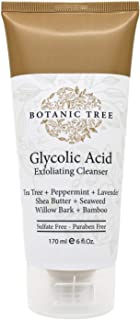 Botanic Tree Glycolic Acid Face Wash-Facial Exfoliating Cleanser w/ 10% Glycolic Acid-Acne Facial Wash For a Deep Clean-An...