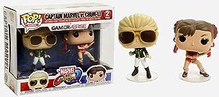 Funko Marvel Vs. Capcom: Infinite Pop! Games Captain Marvel Vs Chun-Li Vinyl Bobble-Head Set Exclusive