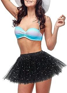 Women's Tulle Tutu Skirt 3 Layered Short Vintage Ballet Bubble Puffy Dress