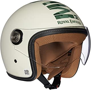 Royal Enfield Off White Open Face with Visor Helmet Size (L)60 CM (RRGHEI000073)