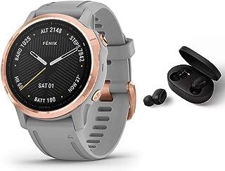 Garmin Fenix 6S Pro Saphir/Sapphire   GPS Multisportuhr   grau/Rosegold inkl. Bluetooth Headset