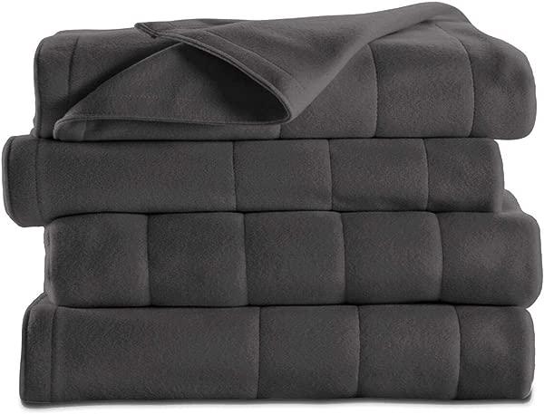 Sunbeam Heated Fleece Electric Blanket Full Size 10 Hour Shut Off 5 Heat Setting