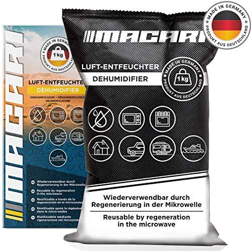 Macari Luftentfeuchter Auto Wiederverwendbar Made in Germany Anti Beschlag Entfeuchter Gegen Feuchtigkeit im Auto Feuchtigkeitskissen für Auto 1kg