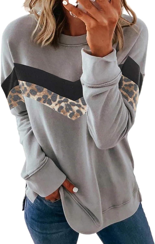 LOSRLY Womens Fashion Casual Sweatshirt Crewneck Tie Dye Striped Printed Hoodies Long Sleeve Tops Crew Collar Shirts