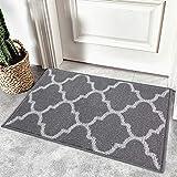 Olanly Indoor Door mat, Non Slip Absorbent Resist Dirt Entrance Rug, Machine Washable