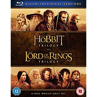 The Hobbit Trilogy and The Lord of the Rings Trilogy (Blu-Ray)
