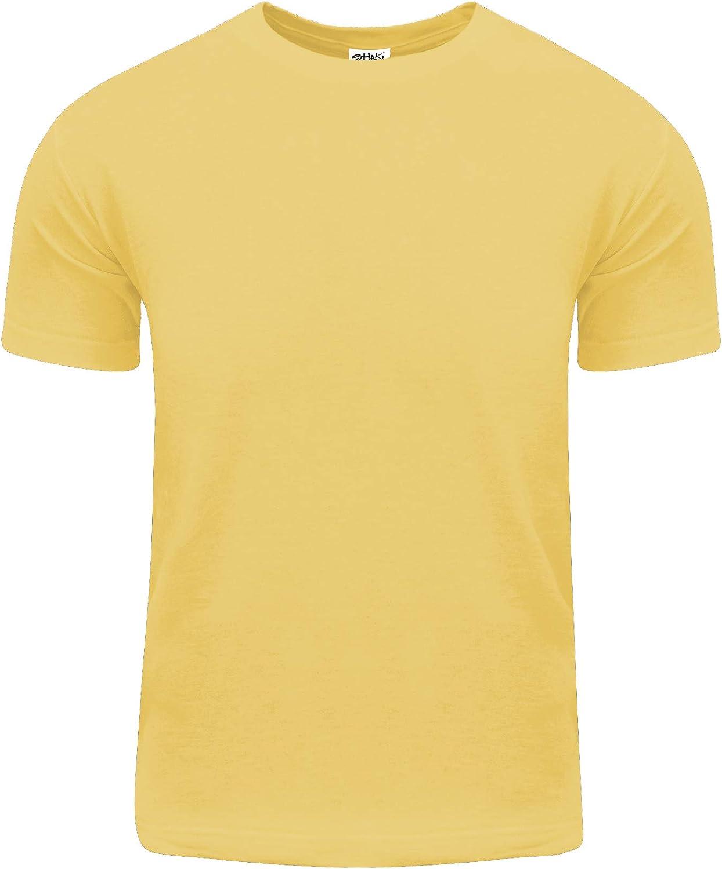 Shaka Wear Men's Cotton T-Shirt – Basic Short Sleeve Crew Neck Tee Top Tshirts Active 5.8 Ounce Regular Big Size S~5XL