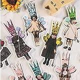 HENJIA Vintage Letter Stickers Kawaii Children DIY Scrapbooking Album Journal Happy Planner Manualidades Paquete de Pegatinas Decorativas