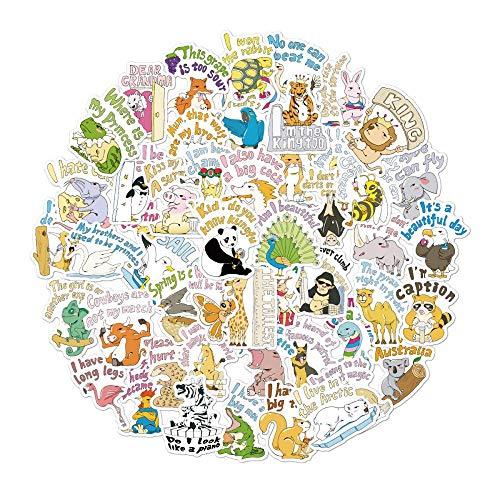 Dierstickers, koffer water beker kinderen cartoon sticker decoratie (100 foto's)