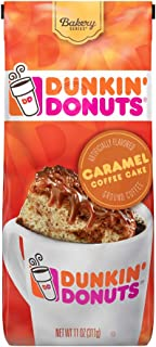 Dunkin' Donuts Ground Coffee, Caramel Coffee Cake, 11 Ounces