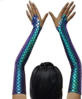 Burning Man Outfits Adult Halloween Costumes Accessory Mermaid Arm Sleeves Party Supplier