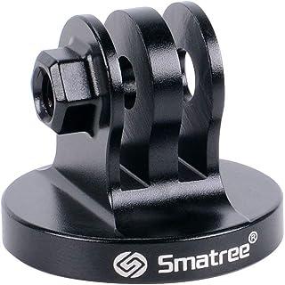 Smatree - Adaptador de trípode de Aluminio para cámaras GoPro Session GoPro Hero 2018 GoPro HEROFusion GoPro HERO8/7/6/5/4/3/2/1 Color Negro