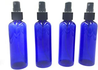 Portable Refillable Plastic Fine Mist Perfume Make Up Clear Empty Spray Sprayer Bottle Cosmetic Atomizers Amber/Blue PET Spray Bottles Pump 100ML Spray Atomizer - Pack of 4