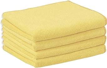 Sheen Microfiber Vehicle washing Cloth || Vehicle washing cloth || GSM 270 || Size 30X40 || Microfiber Cleaning Cloth (4,Yellow)