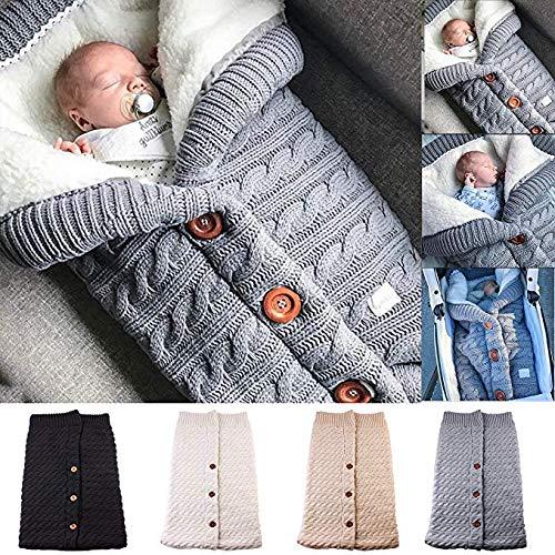 Newborn Baby Swaddle Blanket Fleece Stroller Wrap Nap Blanket Plus Velvet,Baby Kids Toddler Thick Knit Soft Warm Blanket Swaddle Sleeping Bag Stroller Sack