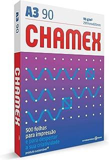 Chamex 03071740178 Papel Branca, A3-297 420mm, Pacote com 500 Folhas
