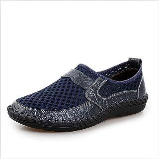 Wanxiaoyyyinnsnjx أحذية العمل للرجال، الصيف شبكة تنفس أحذية الرجال عارضة الجلود عدم الانزلاق الأزياء أكسفورد الرجال لينة و...