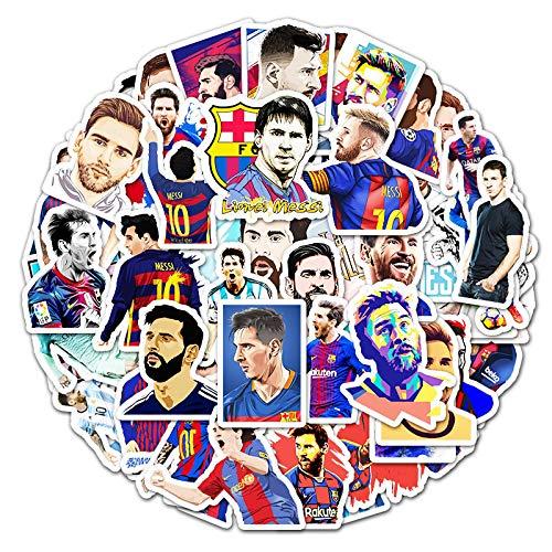 JUNZE Superstar Messi Graffiti Stickers Maleta Laptop Scooter Car Pegatinas Impermeables 51 Hojas