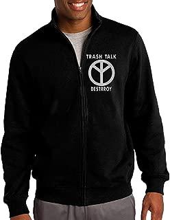 Men TRASH TALK Band Logo Zip Up Jacket With Design