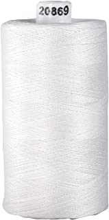 Connecting Threads 100% Cotton Thread - 1200 Yard Spool (White)