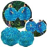 Bubball Pelota de burbuja / Bola hinchable/ para niños/ Dimensiones 90cm /Amortigua caídas y choques /Juego futbol/ Resistente PVC / Big ball football Soccer/Juego deporte (90cm, Rojo) (Azul, 90cm)
