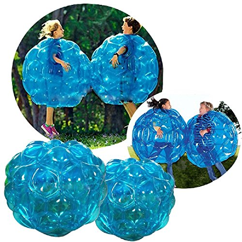 Youth Union Aufblasbare Bubble Ball Bubble Soccer für Kinder PVC Zorb Bumper Fußball Zorbing Kugel Knockerball Transparent (60 cm, Blau)