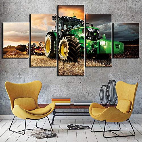 Canvas Schilderij 5 Stuk Kunst Trekker Hd Afgedrukt Wall Art Home Decor Canvas Schilderij Foto Poster Prints Ingelijst