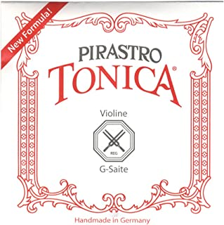 Pirastro 4124 Tonica Synthetic Core Violin G String, Synthetic/Silver Envelope, 4/4 Size