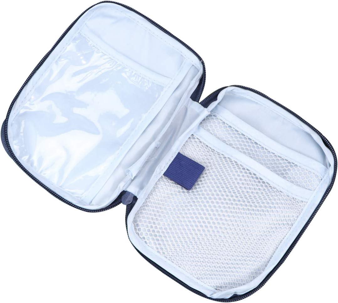 HEALLILY Funda de Primeros Auxilios al Aire Libre portátil Bolsa médica vacía Caso de Medicina de Emergencia para el automóvil en casa (Azul)