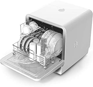 Lavavajillas portátil a prueba de agua automático de alta temperatura Lavavajillas Lavavajillas encimera 850 W de potencia de limpieza desinfección esterilización y secado zhihao