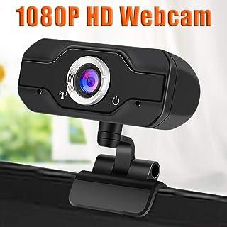 iBàste 1080P Full HD Webcam with Webcam Cover Cámara para computadora portátil para conferencias y videollamadas cámara Web con videollamadas Plug and Play micrófono Incorporado