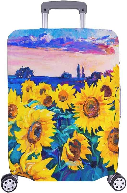 InterestPrint Sunflowers Sunset Travel Cov Case Rapid rise Suitcase Luggage Max 41% OFF