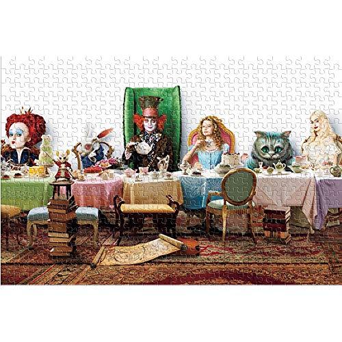 KKASD 1000 Piezas de Rompecabezas para Adultos y niños Alice in Wonderland Puzzle para Adultos 1000 The Film Juguete del Juego del Rompecabezas del desafío del Cerebro (75x50cm)